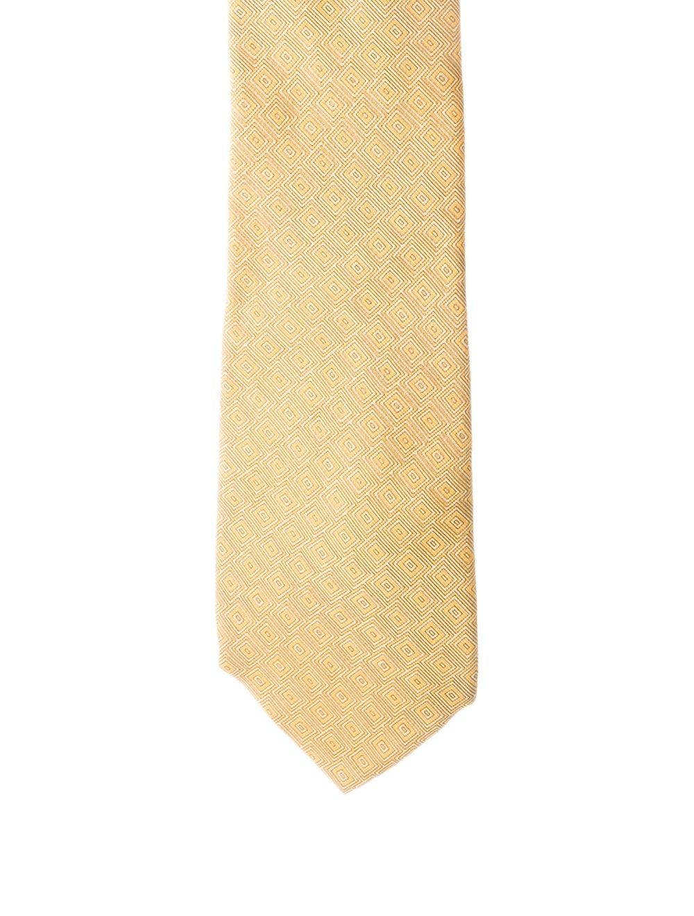 Gianni Versace Silk Printed Tie yellow - image 1