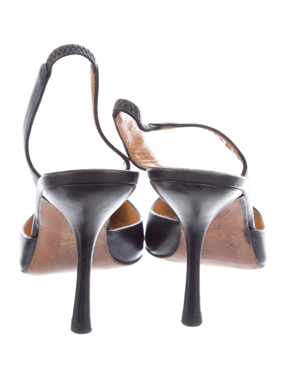 Gianni Versace Leather Slingback Pumps Black - image 4