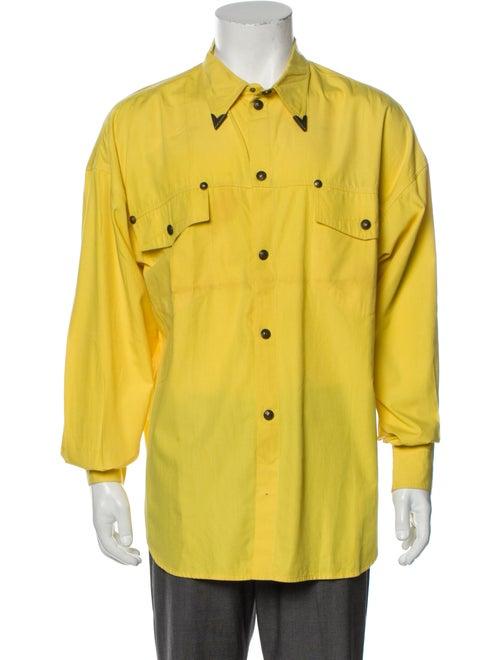 Gianni Versace Vintage 1990's Shirt Yellow