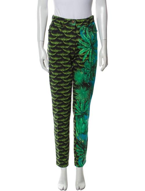 Gianni Versace Vintage Skinny Leg Jeans Green