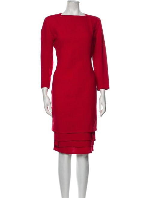 Gianni Versace Vintage Midi Length Dress Red