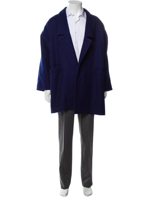Gianni Versace Overcoat Blue