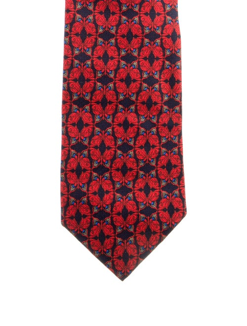 Gianni Versace Silk Butterfly Tie red