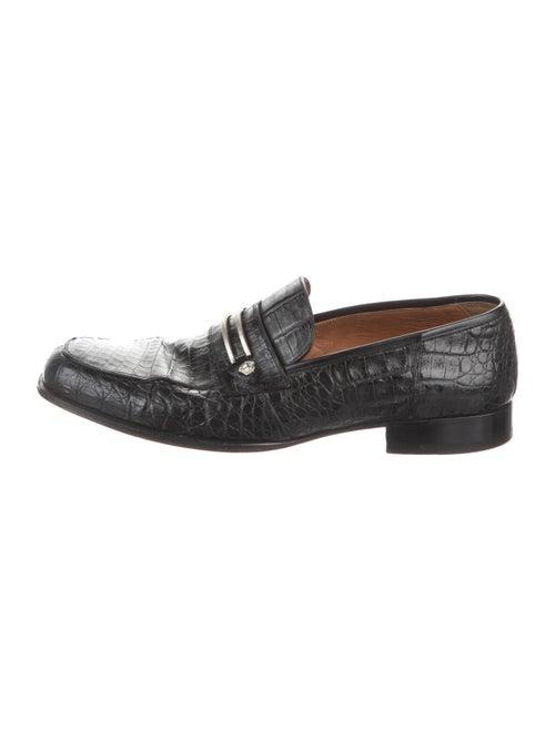 Gianni Versace Alligator Dress Loafers Black
