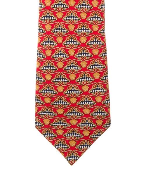 Gianni Versace Silk printed Tie orange
