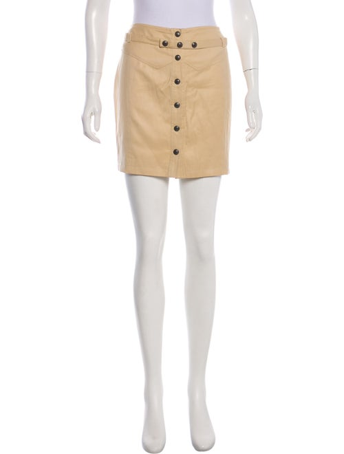 Gianni Versace Mini Wool Skirt Tan