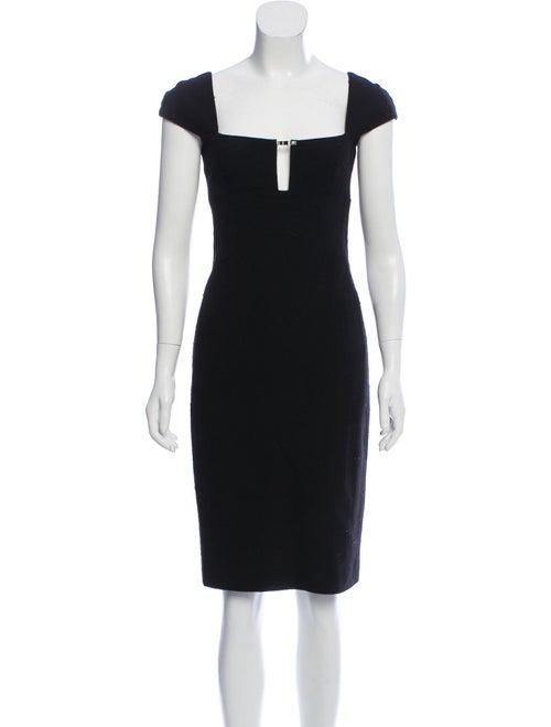 Gianni Versace Vintage Knee-Length Dress Black