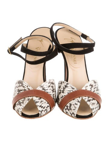 Snakeskin Multistrap Sandals