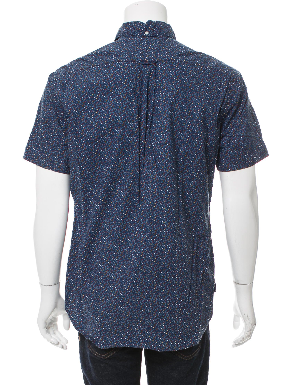 Gitman brothers patterned short sleeve shirt clothing for Mens short sleeve patterned shirts