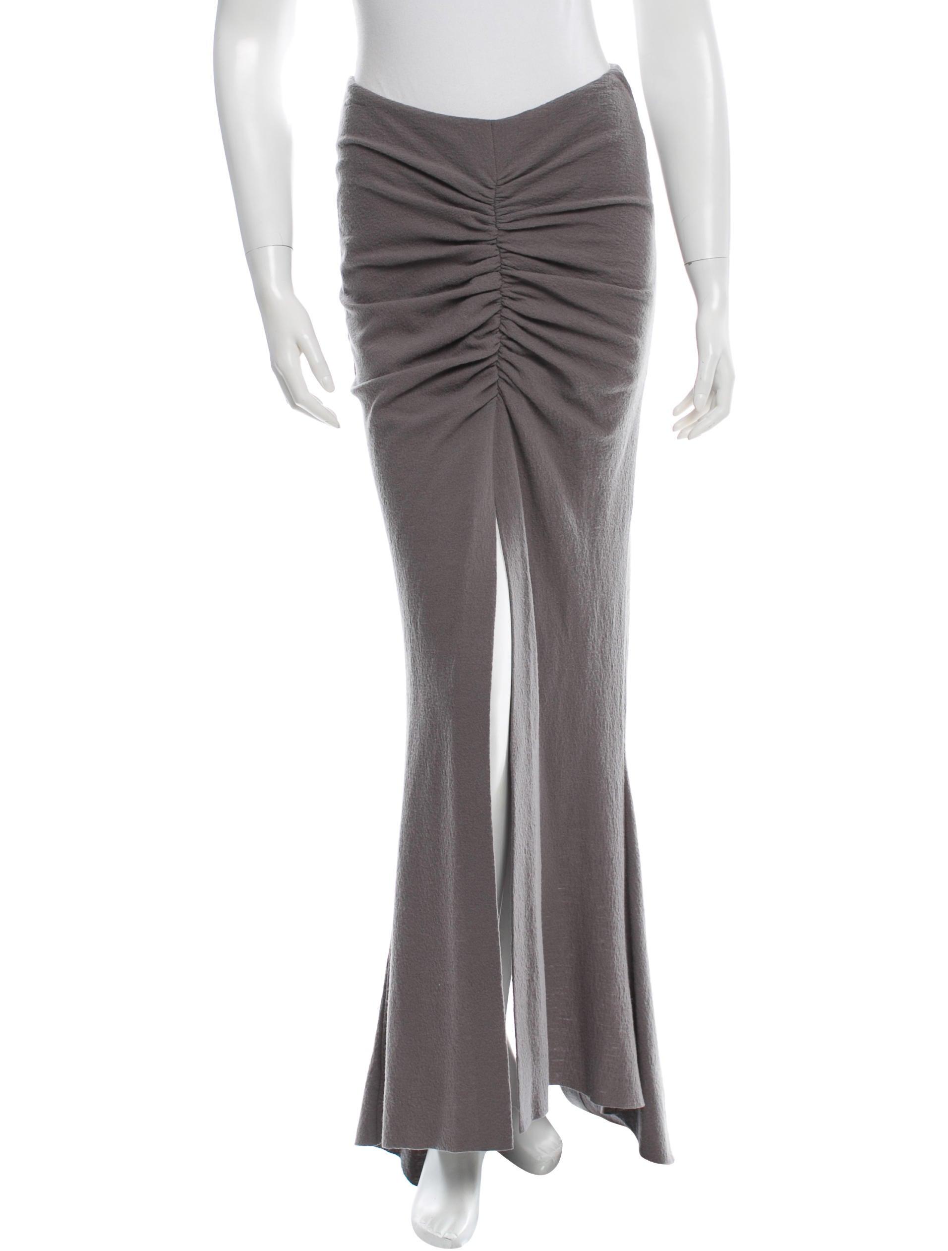 haider ackermann ruched maxi skirt clothing hai20517
