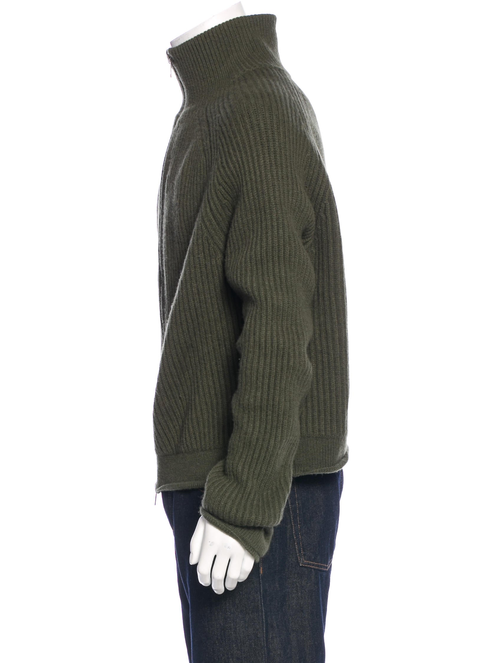 haider ackermann fleece wool zip sweater clothing. Black Bedroom Furniture Sets. Home Design Ideas