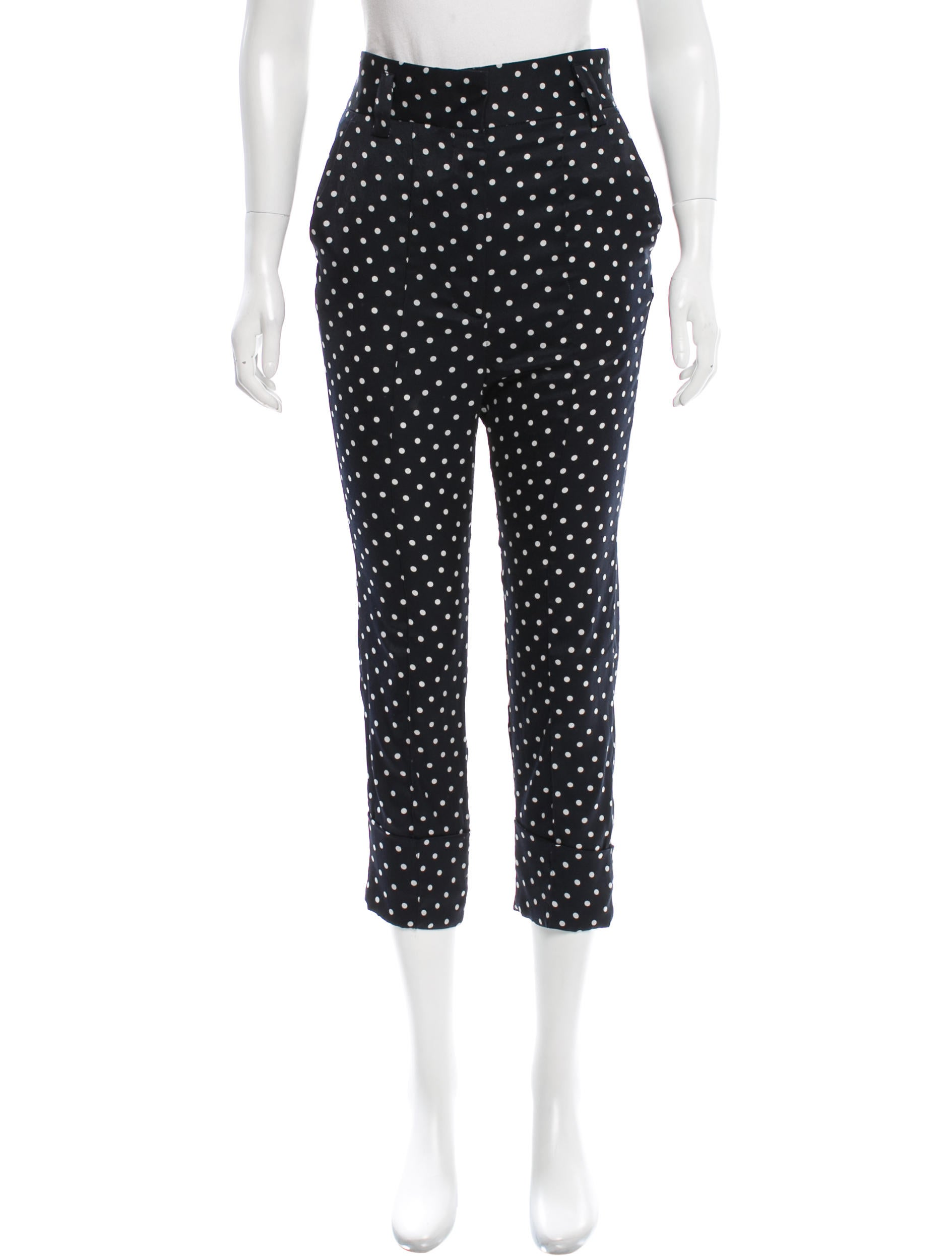 polka dot pants haider ackermann satin polka dot clothing 30737