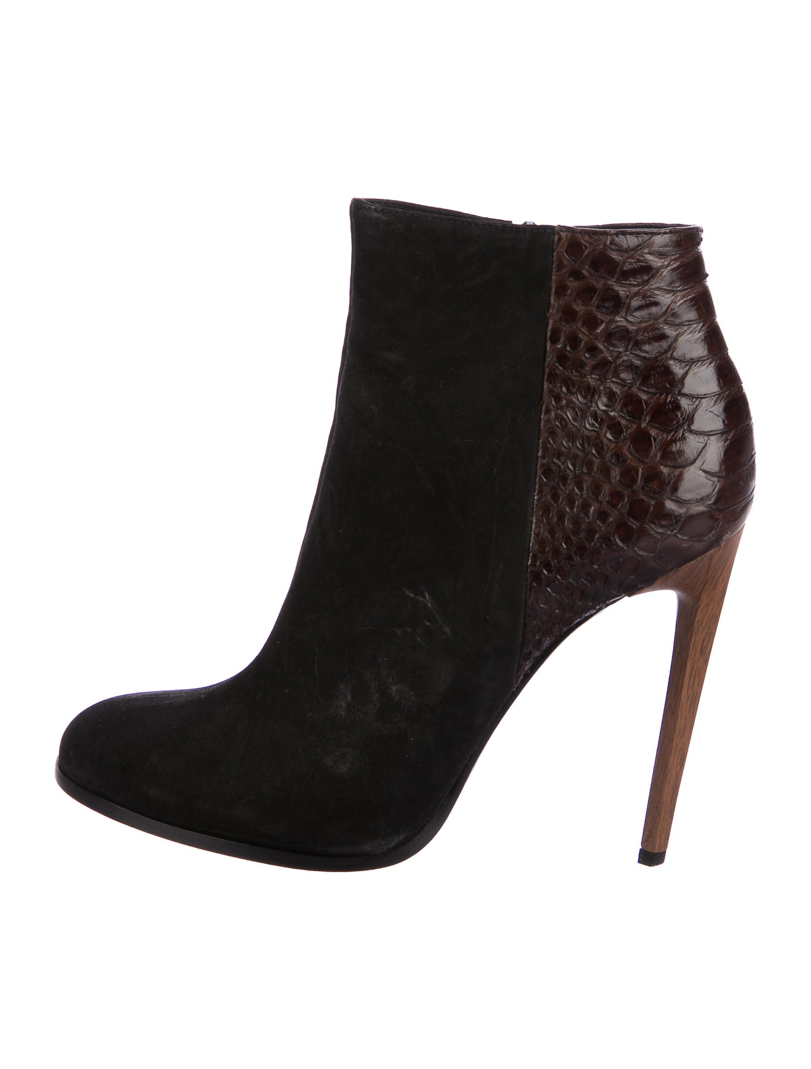 Haider Ackermann Python Round-Toe Ankle Boots fast delivery online cheap how much xGDtkRi