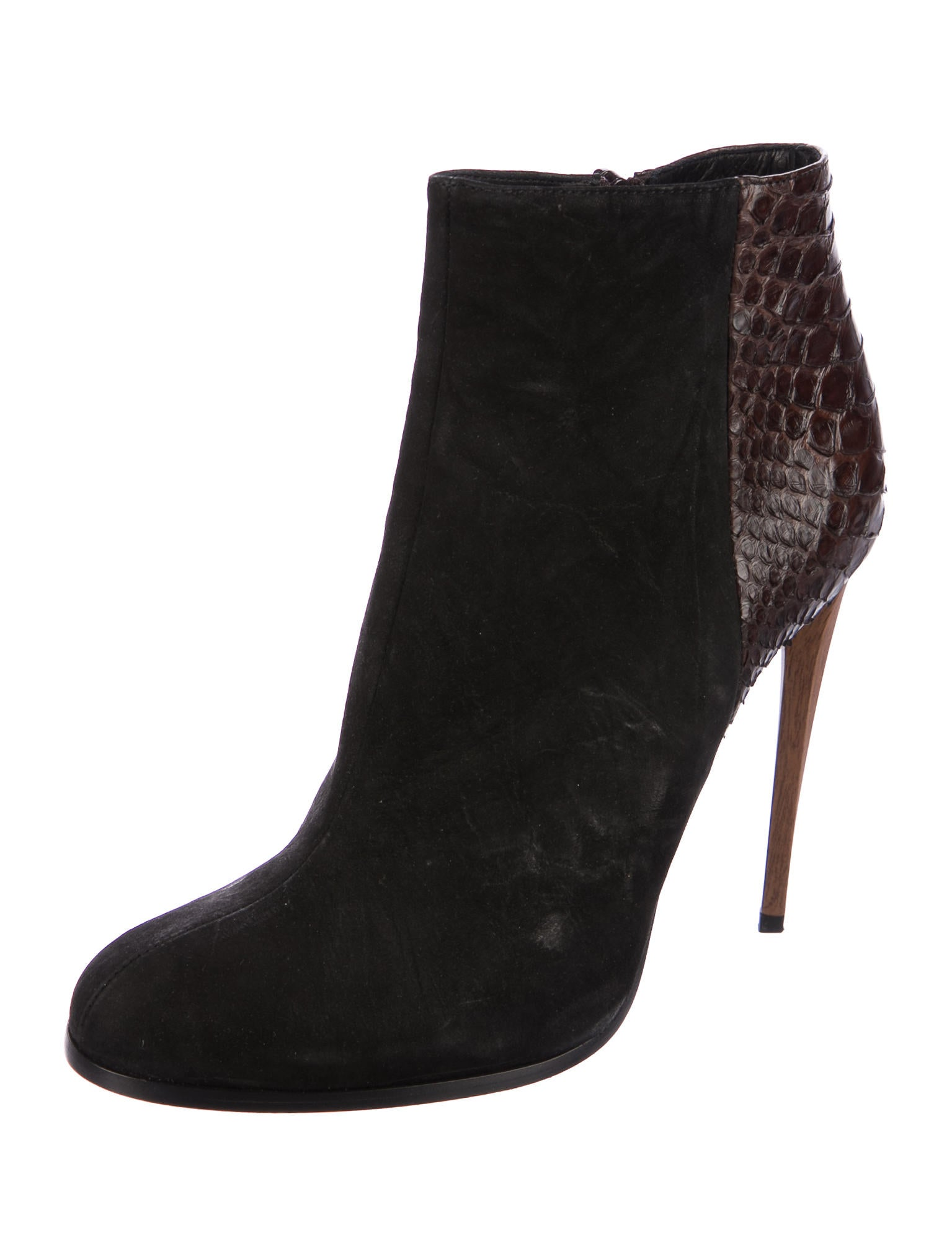 Haider Ackermann Python Round-Toe Ankle Boots browse for sale outlet order buy cheap tumblr qHb0ddTd