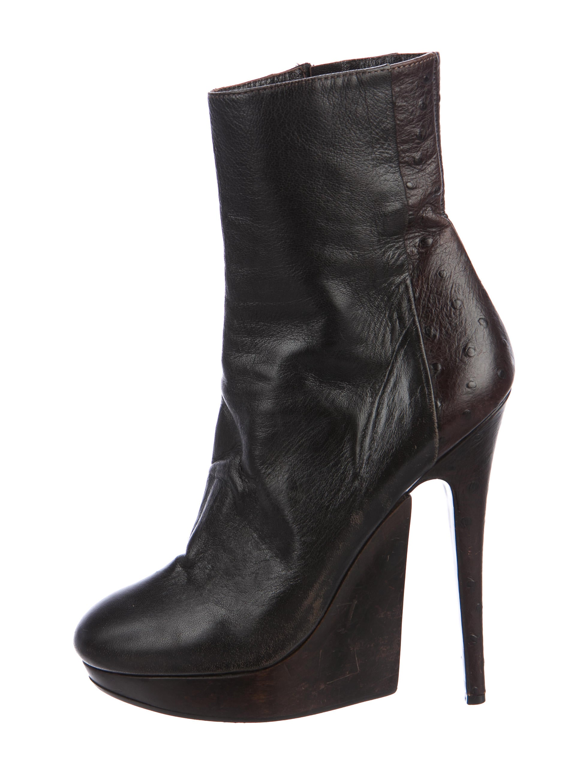 discount browse buy cheap amazing price Haider Ackermann Round-Toe Embossed Boots 35ZGQoA
