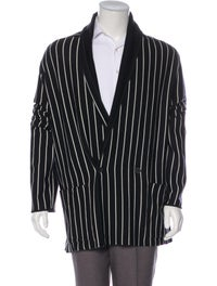 2018 Wool-Blend Striped Cardigan image 1