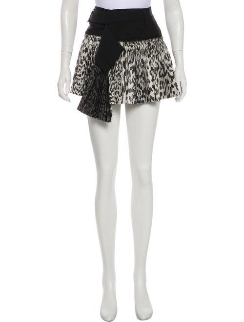 Haider Ackermann Pleated Leopard Print Skirt Black