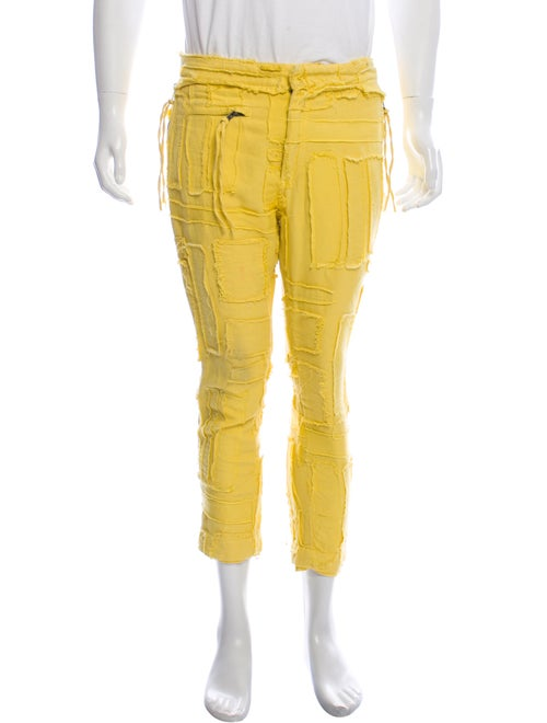 Haider Ackermann Distressed Skinny Jeans yellow