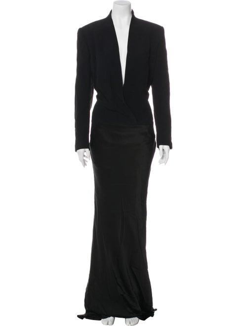 Haider Ackermann Long Sleeve Maxi Dress Black