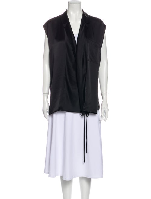 Haider Ackermann Silk V-Neck Tunic Black
