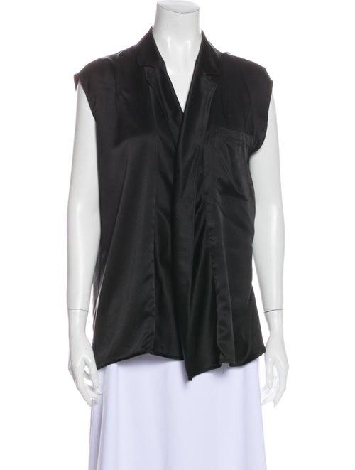 Haider Ackermann Silk V-Neck Blouse Black