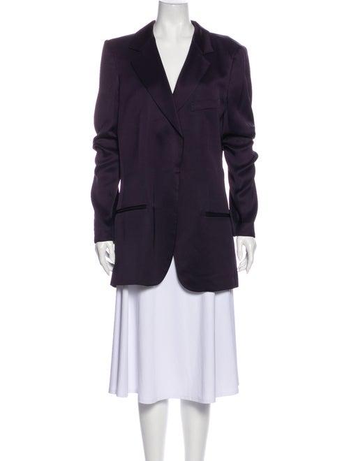 Haider Ackermann Silk Blazer Purple