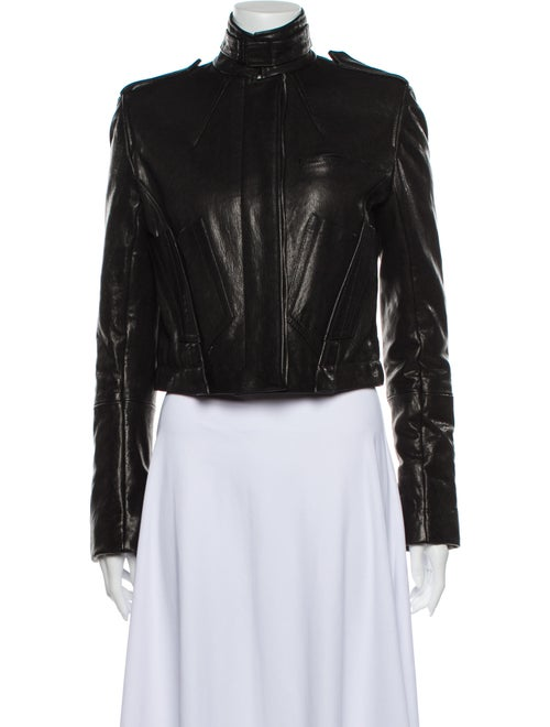 Haider Ackermann Leather Biker Jacket Black