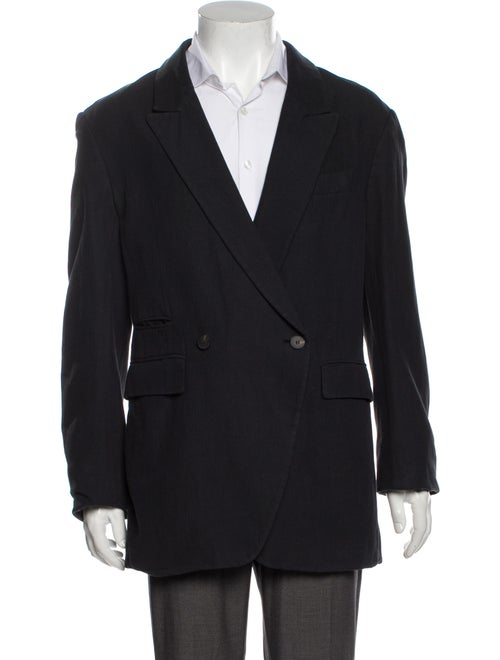 Haider Ackermann Linen Jacket Blue