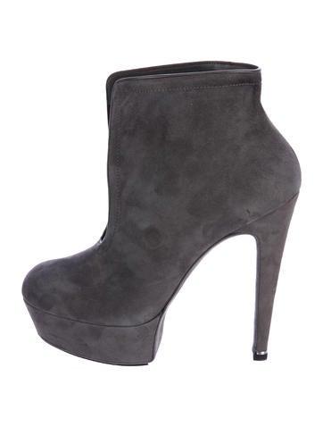 cheap price outlet Halston Suede Platform Ankle Boots outlet hot sale fNP5Qwa