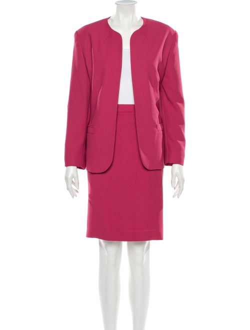Halston Skirt Suit Pink