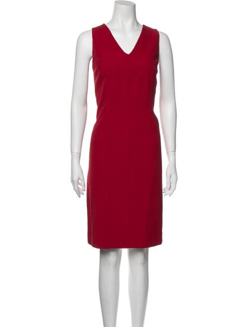 Halston Sheath Knee-Length Dress Red