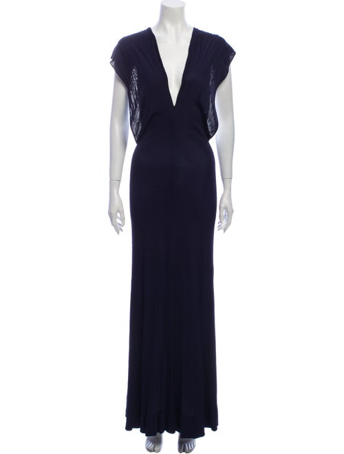 Halston Vintage Long Dress Blue
