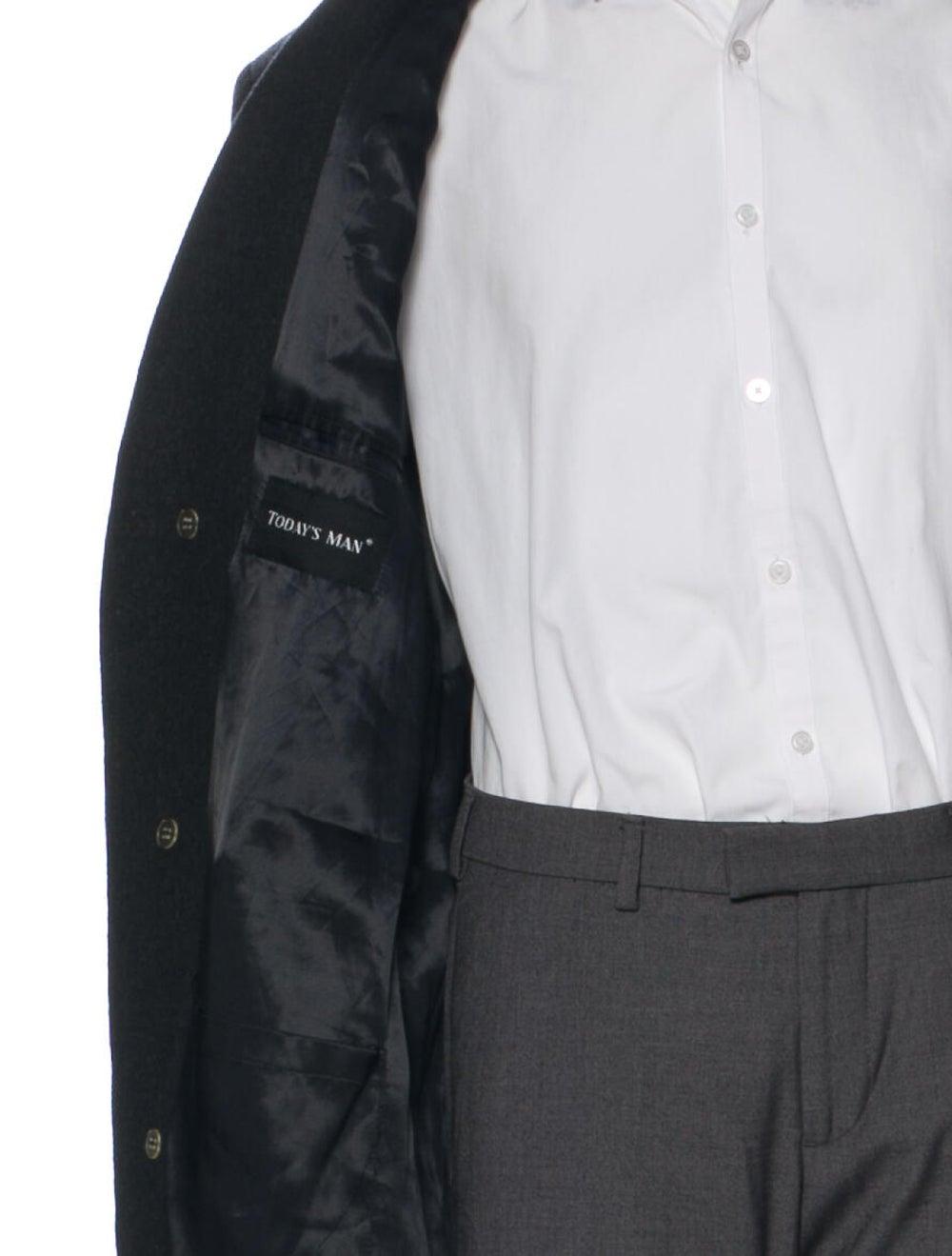 Halston Vintage Wool Overcoat Wool - image 4