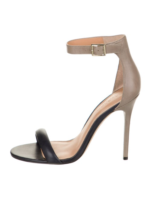 Halston Leather Sandals Black