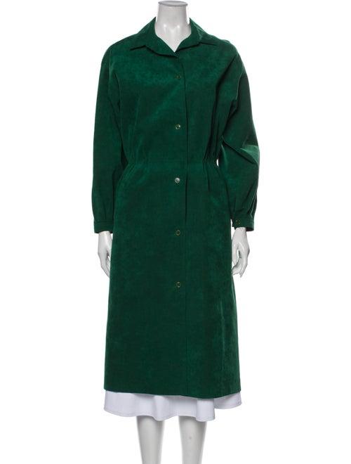 Halston Vintage 1970's Trench Coat Green