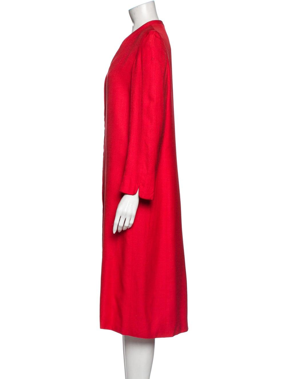 Halston Vintage Midi Length Dress Red - image 2