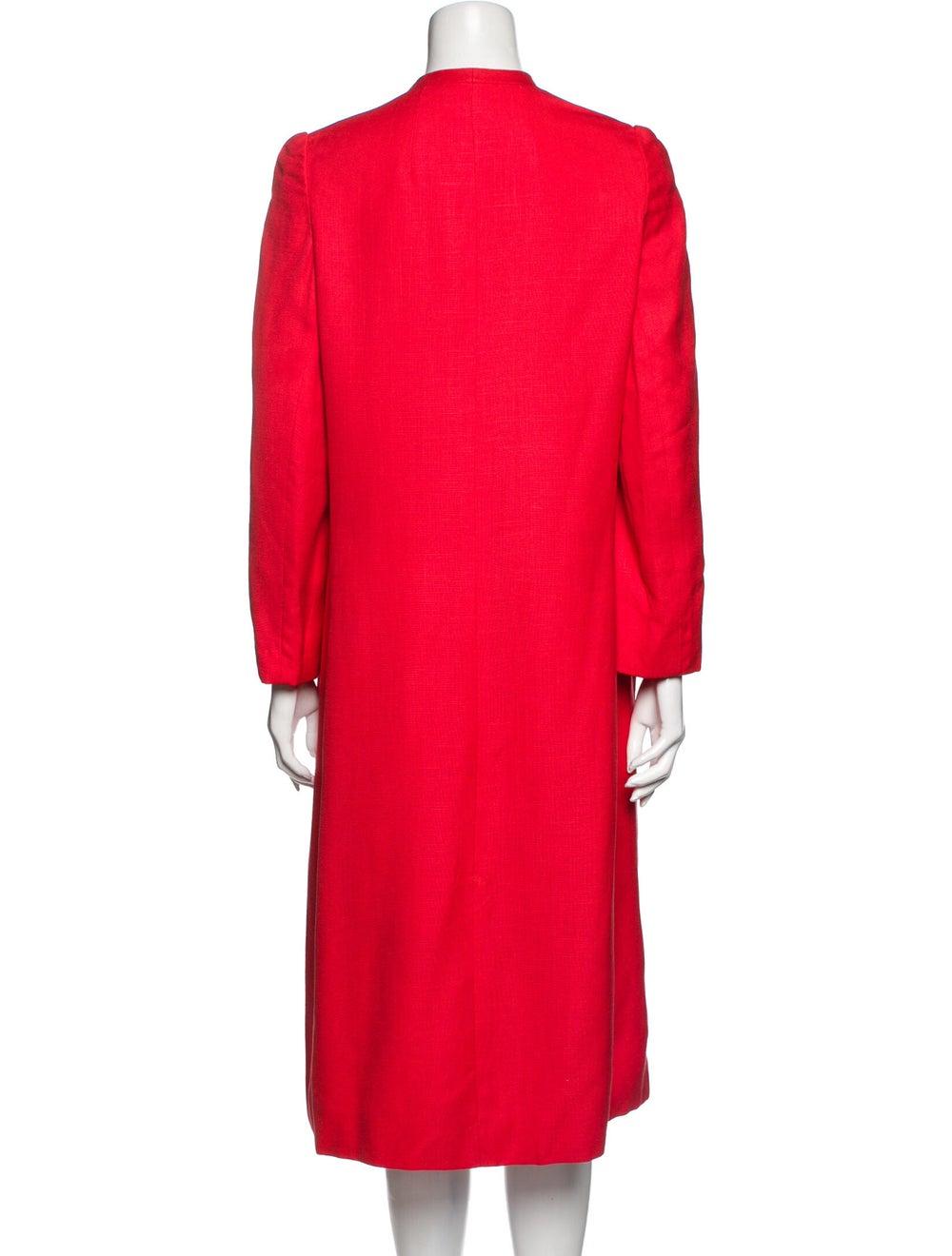 Halston Vintage Midi Length Dress Red - image 3
