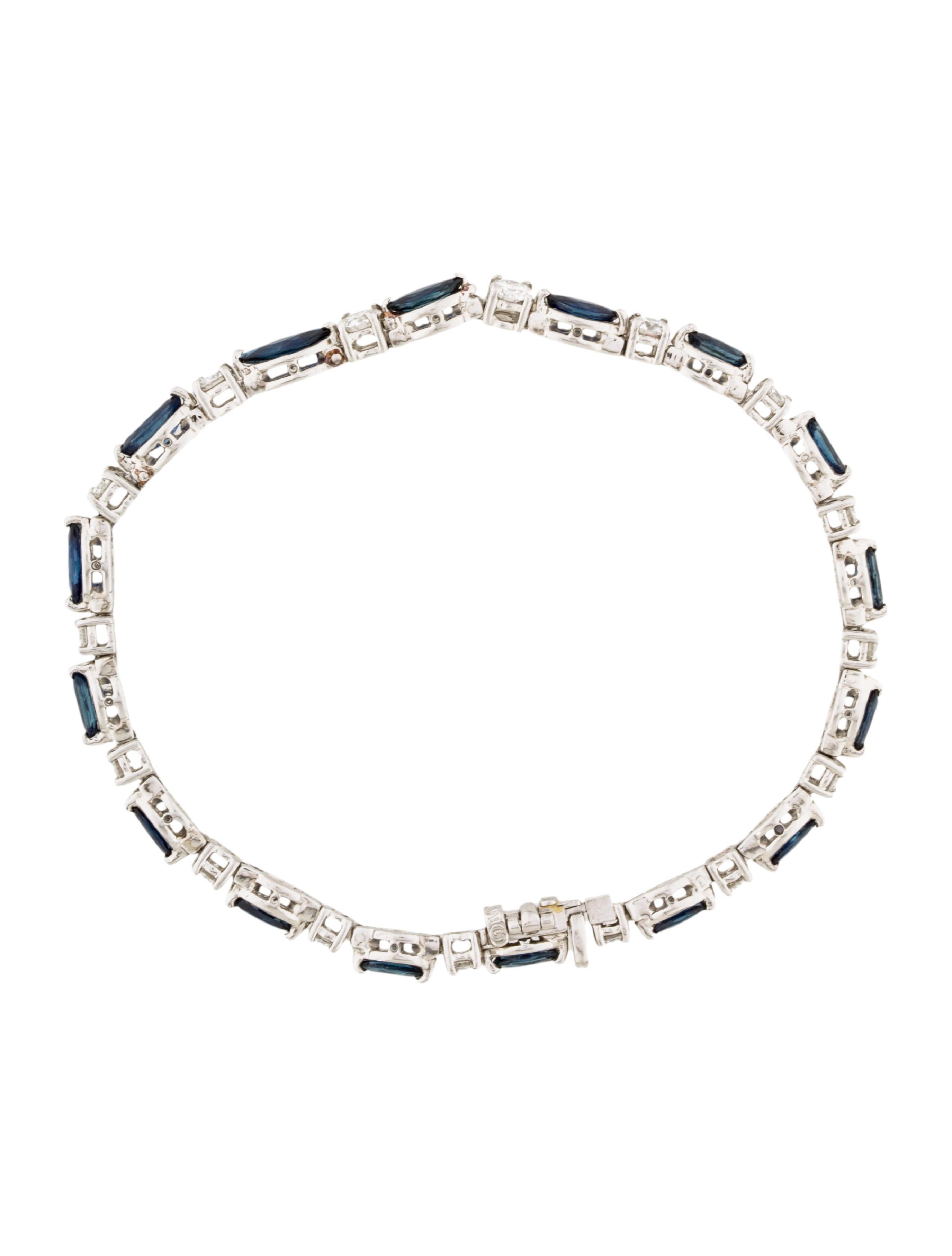 hammerman platinum sapphire amp diamond bracelet bracelets