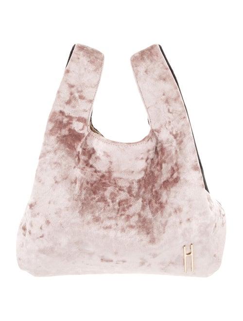 Hayward Crushed Velvet Tote Pink