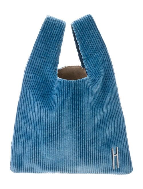 Hayward Corduroy Shopping Tote Blue