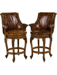 Marvelous Hancock Moore Pair Of Eaton Barstools Furniture Gmtry Best Dining Table And Chair Ideas Images Gmtryco