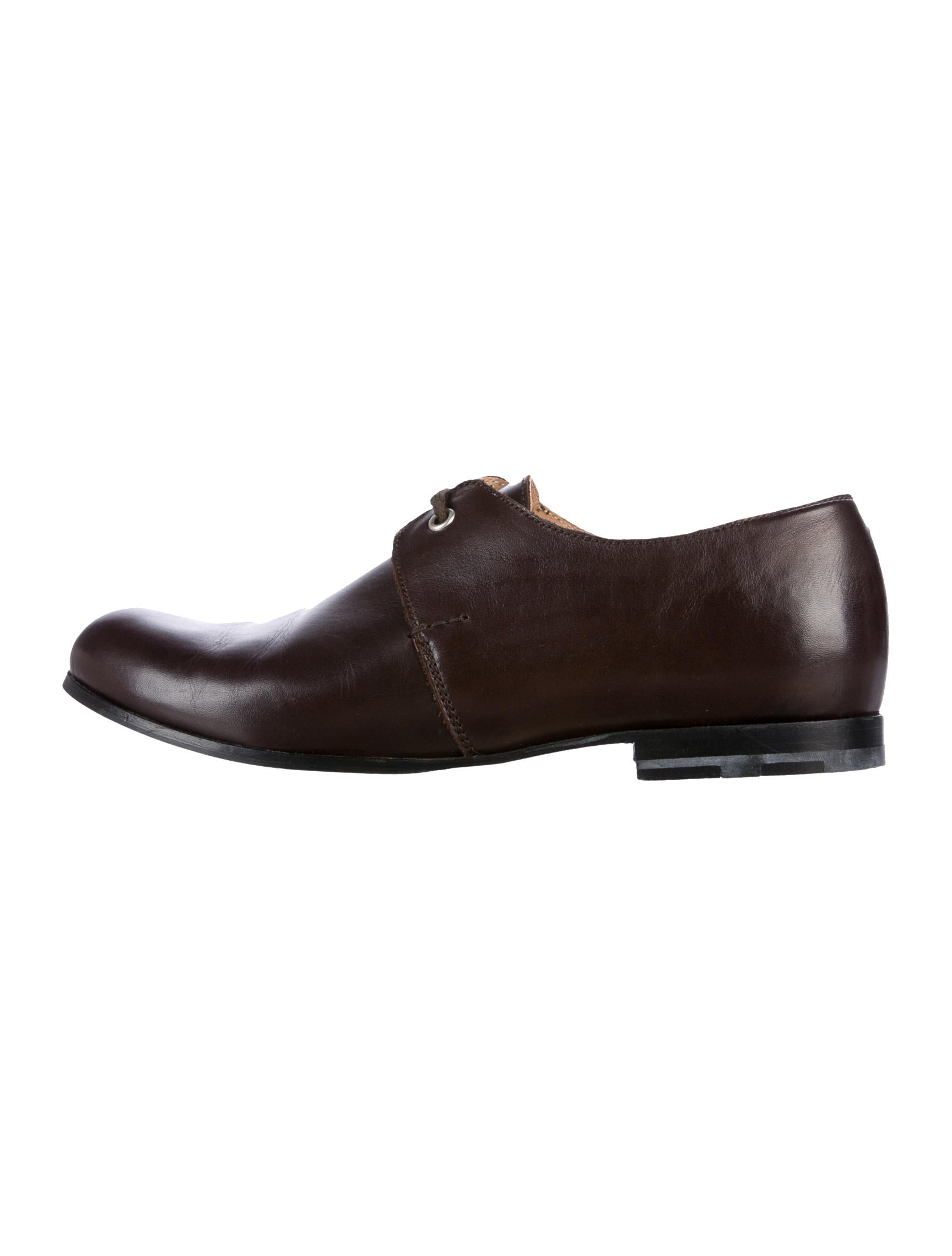 Heschung x Comme des Garçons Heschung x Comme des Garçons Leather Round-Toe Oxfords quality from china cheap collections for sale 7wyzOsT