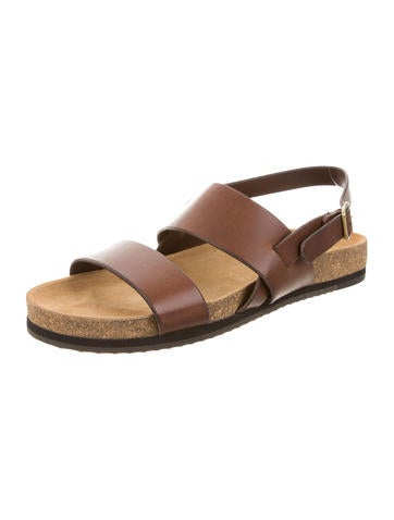 Leather Slingback Sandals w/ Tags