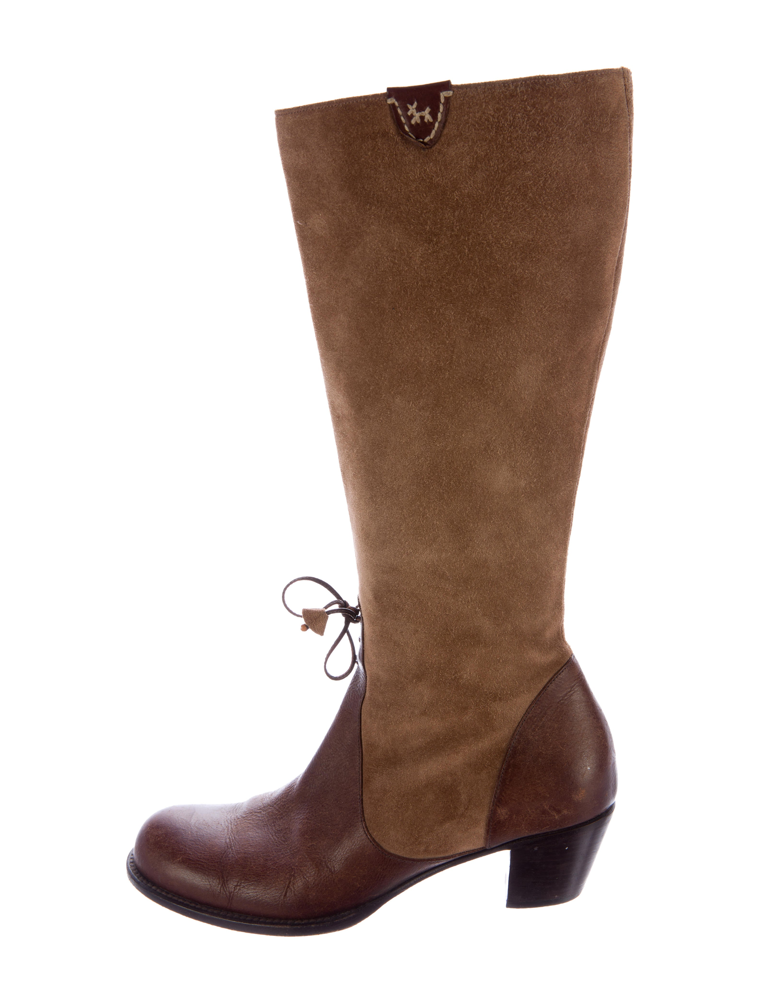 henry cuir suede knee high boots shoes hec20436 the