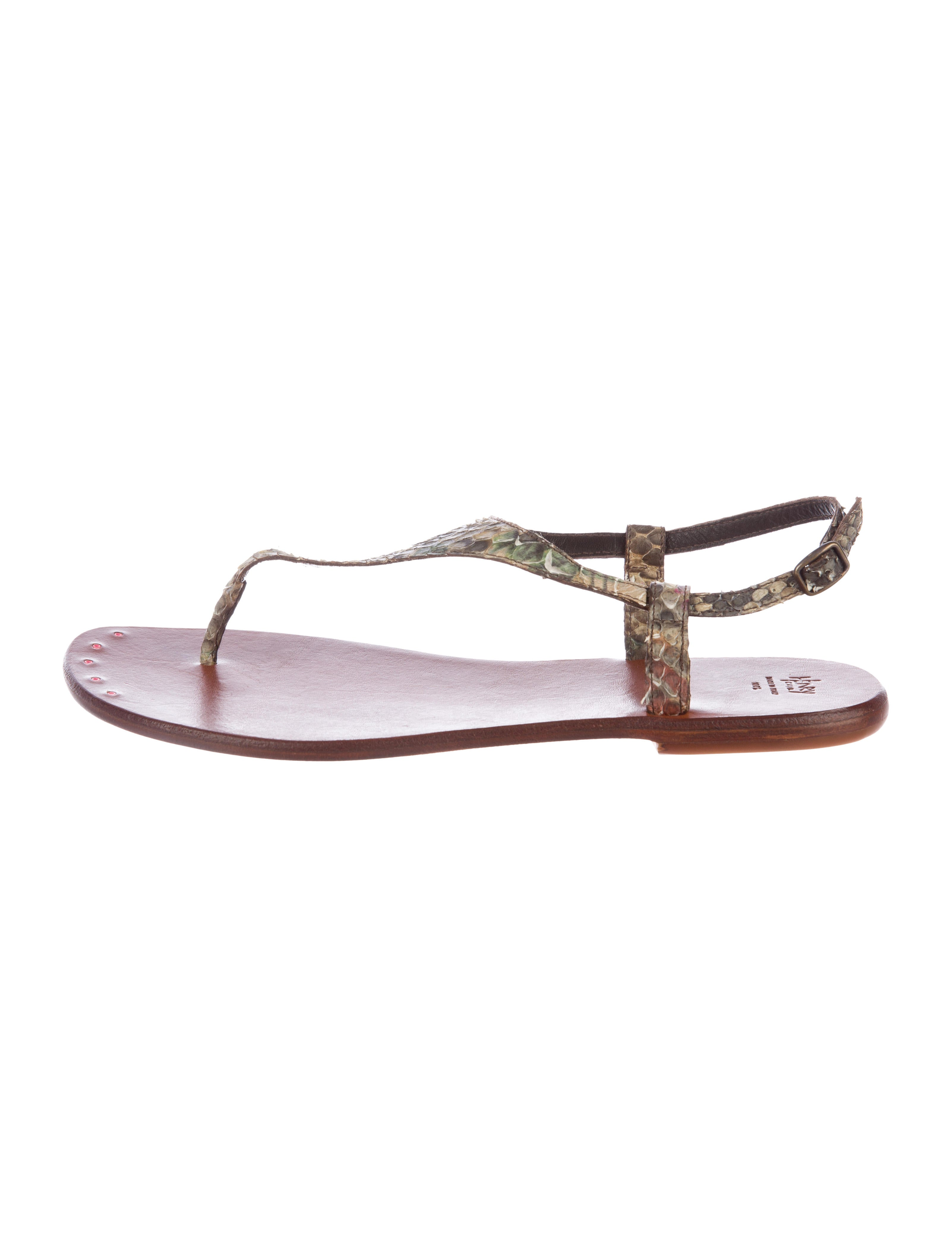 clearance wholesale price Henry Cuir Snakeskin Thong Sandals best wholesale cheap online discount sneakernews DoNPXb