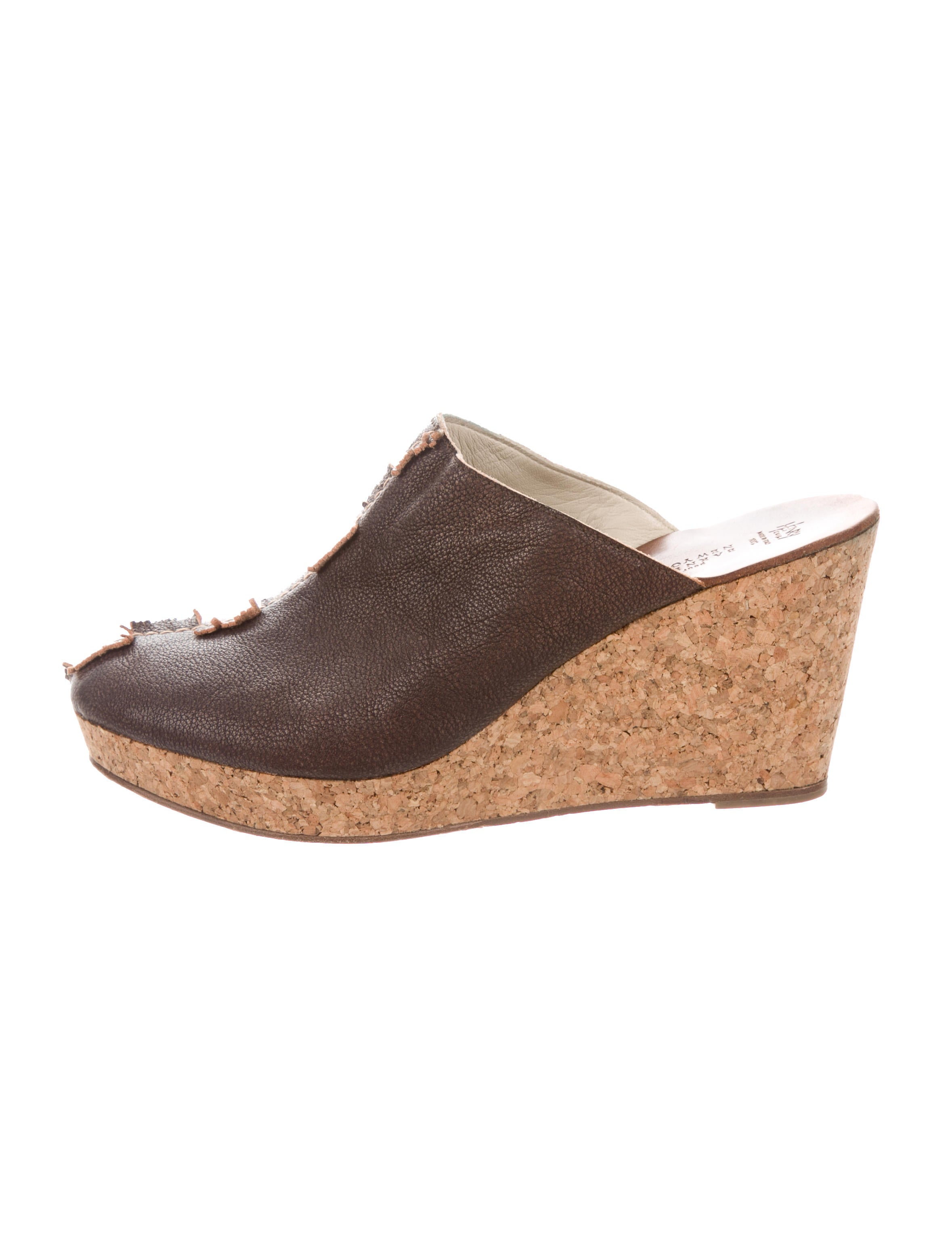 Henry Cuir Leather Wedge Mules outlet affordable fashion Style sale online cheap sale supply 3ZJOvAnMb