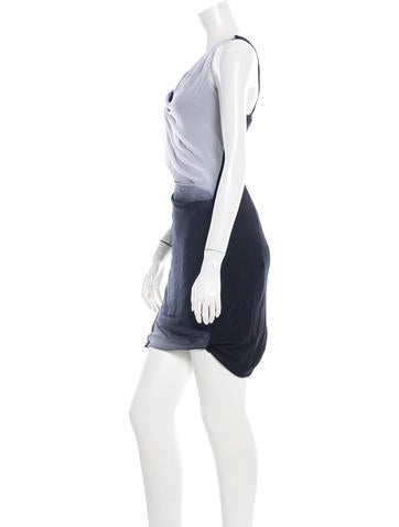 Draped Sheath Dress w/ Tags