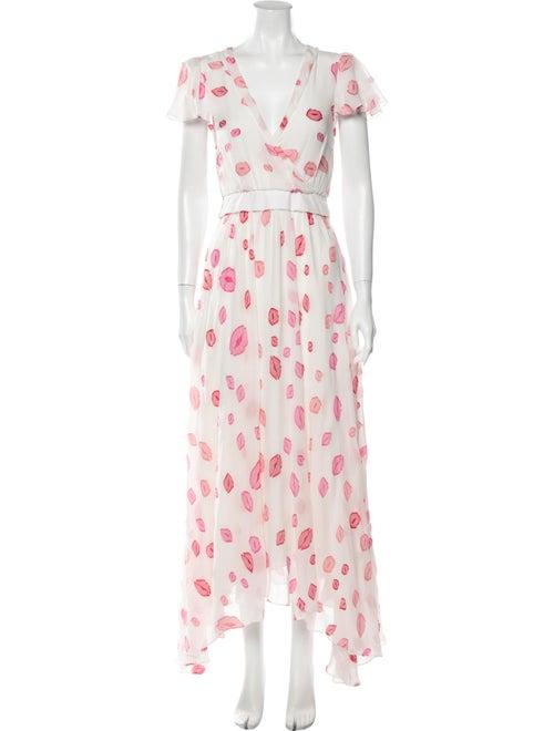 Hellessy Silk Long Dress White