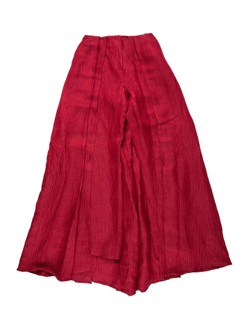 Hellessy Linen Long Skirt w/ Tags Red