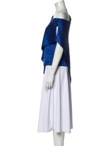 Hellessy One-Shoulder Three-Quarter Sleeve Tunic